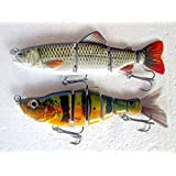 Lurebot Multi Jointed Fishing Lure Swimbait for Sea Lakes Streams Bass Walleye Perch Muskie Trout Salmon Northern Pike Panfish