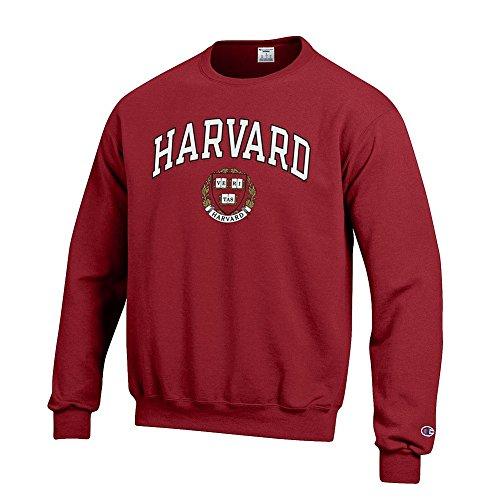 Elite Fan Shop NCAA Harvard Crimson Men's Team Color Crewneck Sweatshirt, Maroon, Large