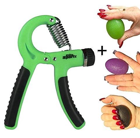 Elite Sportz Adjustable Hand Gripper and 3