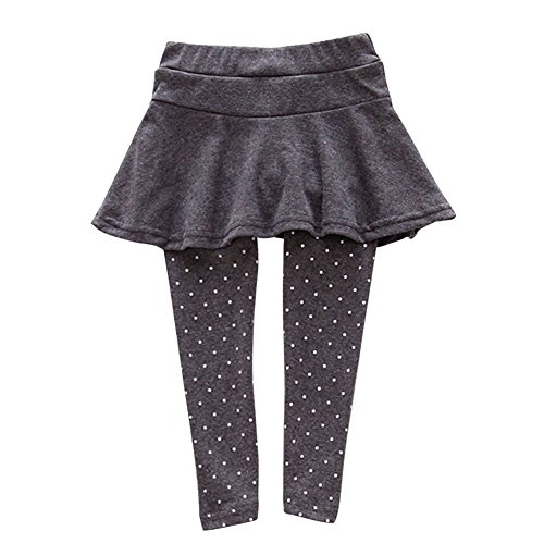 Jlong Kid Baby Girl Wool Warm Polka Dot Culotte Legging Trousers Pantskirt