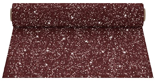 Firefly Craft Glitter Maroon Heat Transfer Vinyl | Maroon Glitter HTV Vinyl | Iron On Vinyl for Cricut and Silhouette | 5 Feet by 12.25 Roll | Heat Press Vinyl for Shirts
