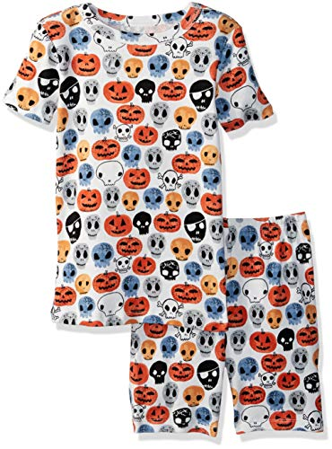 (Gymboree Boys' Big 2-Piece Tight Fit Sleeve Short Bottoms Pajama Set, Halloween Faces)