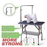 Polar Aurora 30'' Foldable Grooming Table Heavy Duty Portable Pet Dog Cat Profession Dog Show Fold
