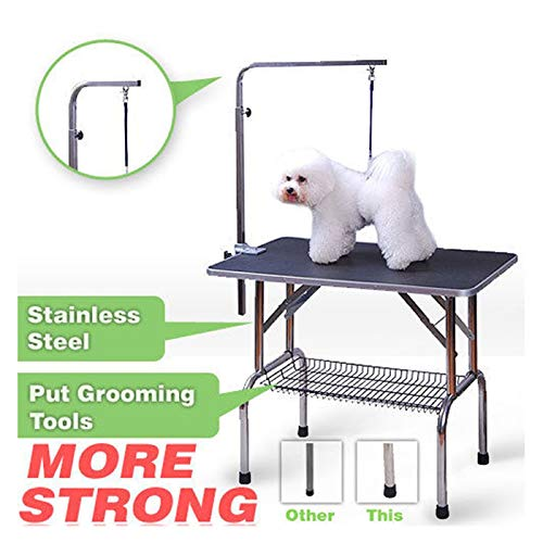 Polar Aurora 36'' Foldable Grooming Table Heavy Duty Portable Pet Dog Cat Profession Dog Show Fold