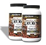 2-BOTTLE-SAVINGS-Pure-100-Whey-Protein-Low-Carb-Low-Fat-Double-Dutch-Chocolate-Flavor-Powder-All-Natural-1000-Mg-L-glutamine-No-Artificial-Sweeteners-or-Flavors-2-Pounds-Each-Pack-of-2
