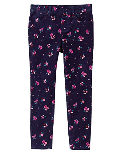 Gymboree Little Girls' Printed Cord Pant, Navy Ditsy, 5 (Pant Cord Skinny)