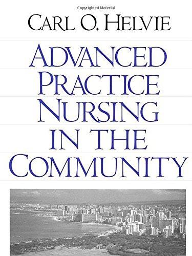 Advanced Practice Nursing in the Community