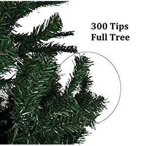 Holiday Essence 4 Foot Green Artificial Christmas Tree - 300 Tips - with PVC Base - Unlit 2
