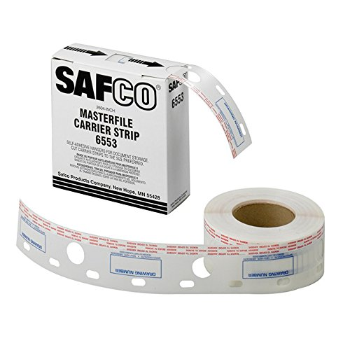 Safco 2.5W in. Polyester Carrier Strips for MasterFile 2 (Carrier Strips Polyester)