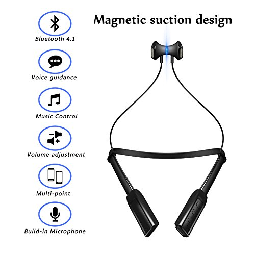 bluetooth headset  charlemain wireless headphones noise