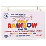 Center Enterprise SA530 Washable Primary Stamp Pad, Red/Yellow/Blue