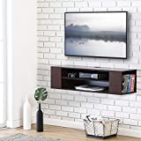 Fitueyes Wall Mounted Audio/Video Console wood grain for xbox one /PS4/ vizio/Sumsung/sony TV DS210001WB