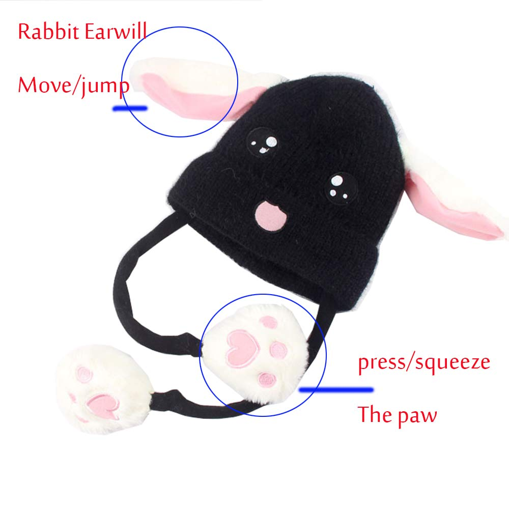 259f6caba Animal Hat Funny Headwear Bunny Movable Jumping Ears Hat Toys for Gifts  Party