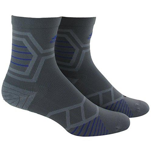adidas Energy Running Single Mid-Crew Socks, Vista Grey/Night Flash Purple, Medium