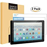 All-New Fire HD 10 Screen Protector [2-Pack], PLESON Tempered Glass Screen Protector for Fire HD 10 Tablet (2017 Release), [0.26mm] 2.5D Case Friendly Bubble Free Screen Protector for Fire HD 10 2017