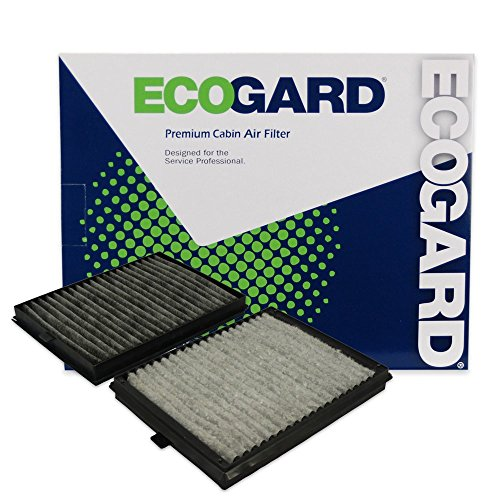 ECOGARD XC35509C Cabin Air Filter with Activated Carbon Odor Eliminator - Premium Replacement Fits BMW 528i, 530i, 525i, 540i, M5