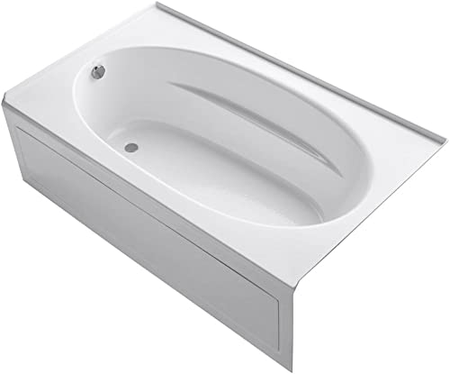 KOHLER K-1115-LA-0 Windward 6-Foot Bath with Integral Apron, White