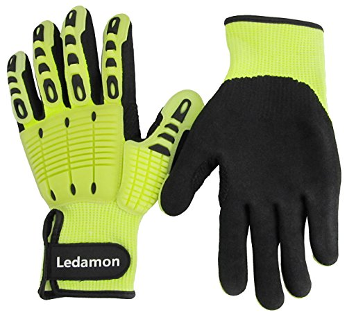 Ledamon Anti-Vibration Impact Resistant Cut Resistant Wear Resistant Mechanic Work Gloves Professional-Grade Protection & Durability (XX-Large) by Ledamon (Image #5)
