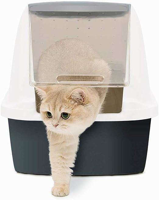 Cajas de Arena para Gatos Cerradas Inodoro contra Salpicaduras ...