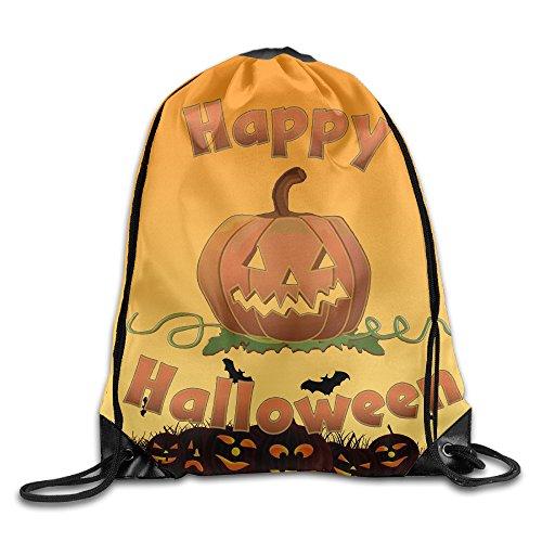 Drawstring Backpack Sack Bag Happy HALLOWEEN Nylon Home Travel Sport Storage (2)