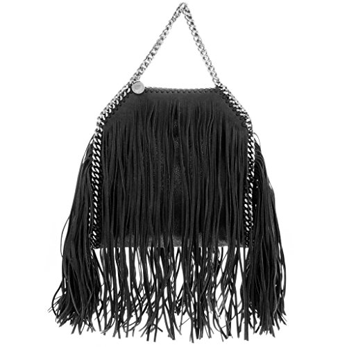 Stella-McCartney-Womens-Mini-Falabella-Fringe-Tote-Bag-Black