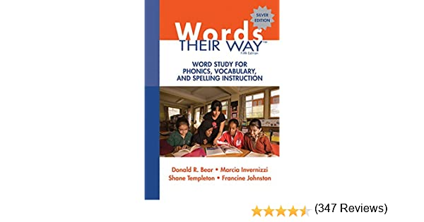 Amazon.com: Words Their Way: Word Study for Phonics, Vocabulary ...