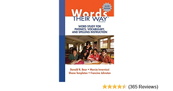 Amazon Words Their Way Word Study For Phonics Vocabulary And