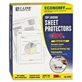 C-Line - Economy Weight Poly Sheet Protector Reduced Glare 11 X 8 1/2 200/Bx ''Product Category: Binders & Binding Systems/Sheet Protectors Card & Photo Sleeves''