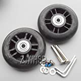 Luggage Suitcase Replacement Wheels OD 80mm (3.15