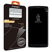 LG V10 Screen Protector, Spigen® [Tempered Glass] Easy-Install Wings [Glas.tR SLIM] Most Durable Rounded Edge Glass for LG V10 - Glas.tR SLIM (SGP11791)