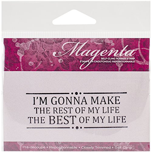 Magenta Cling Stamps, 1.25-Inch by 2.75-Inch, The Best of My ()