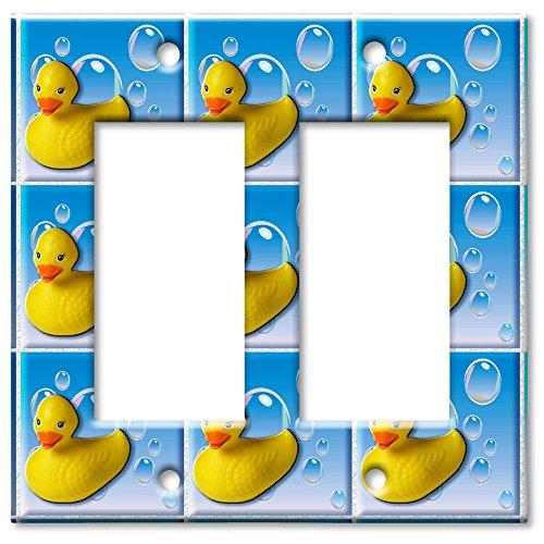 Double Gang Rocker Wall Plate - Rubber - Duckie Rocker