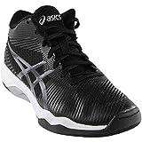 ASICS Men's Volley Elite FF MT Volleyball Shoe, Black/Dark Grey/White, 8.5 Medium US