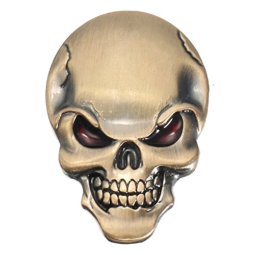 Exterior Accessories - Demon Skulls Metal 3d Car Sticker Skull Bone Emblem Badge Decals Sticker - Mens Tee Shirts Heavy Metal Skulls Metallica Skull Emblem - Decals For Motorcycles - 1PCs -