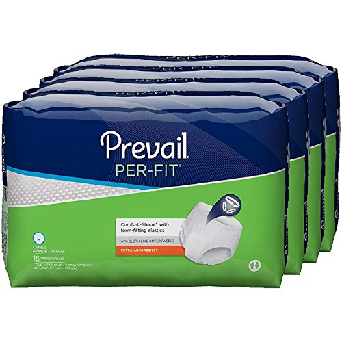 Prevail Per-Fit Extra Absorbency Incontinence Underwear, Large, 18 Count (Pack of ()