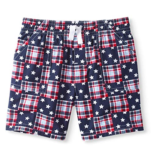 Baby and Toddler Boy's Americana Theme Mix n Match Separates (Woven Patchwork Shorts, 18 -