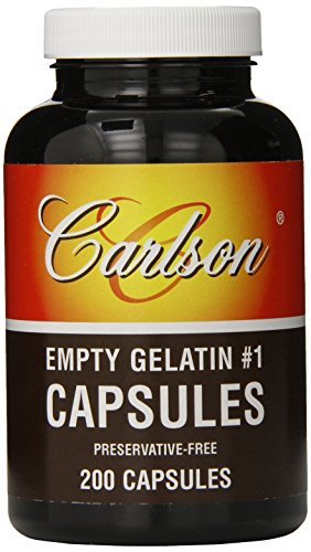 Carlson Labs Empty Capsules, No.01 Medium-Small, 200 Count