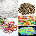 shun yi Pebbles, Pebbles for vases Colored Stones Glow in The Dark Stones Polished Gravel Outdoor Decorative Stones, Fish Tank Aquarium, Landscaping, Vase Fillers,