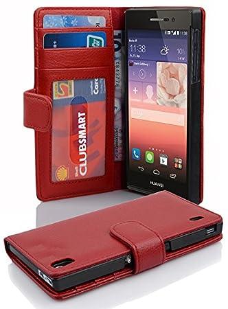 Cadorabo de de 101025 Huawei P7 Inferno de color rojo