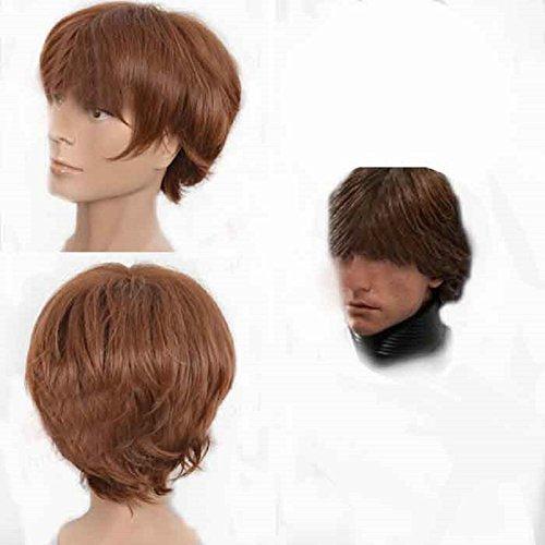 Luke Skywalker Wig Movie Cosplay Pre-styled Costume Wig Hair Accessories XCOSER]()