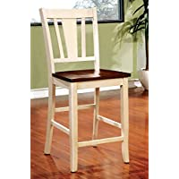 Furniture of America CM3326WC-PC-2PK Dover II Counter Height Chair Set of 2 Dining