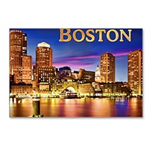 CafePress - Boston Harbor At Night Te - Postcards (Package of 8), 6