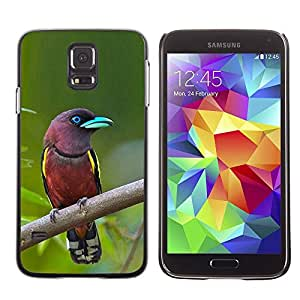 TopCaseStore / la caja del caucho duro de la cubierta de protección de la piel - Bird Green Ornithology - Samsung Galaxy S5 SM-G900