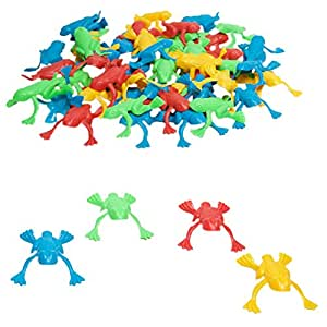 Plastic Jumping Frogs - 144 Piece Pack