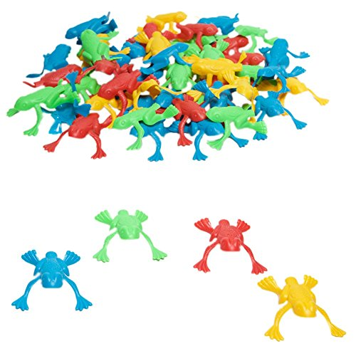 Plastic Jumping Frogs Piece Pack