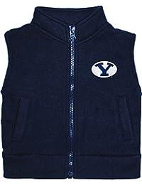 Brigham Young University BYU Cougars Newborn Infant Baby Polar Fleece Vest,Navy,2 Toddler