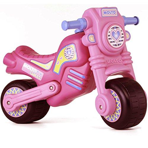 Rutschermotorrad, breite Reifen, für Innen und Außen, 73 cm, rosa-pink: Rutscher Auto Rutschauto Kinder Motorrad Laufrad Mödchen