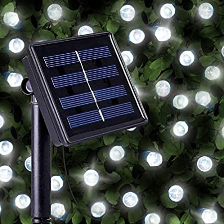 Guirnaldas Solares Luminosas de 100 LEDs de Color Blanco Brillante ...