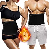Biange Waist Trainer, Soft Waist Trimmer Belt for Men & Women, Adjustable Stomach Ab Fat Burner Weight Loss, Back Lumbar Support with Sauna Suit Effect, Fit for Fitness, Slimming, Yoga