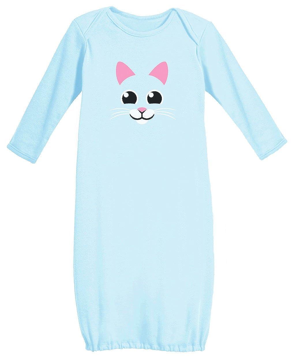 【10%OFF】 猫面 猫面 – My ライトブルー Little Kitty Newborn Nightガウン幼児かわいいベビー長袖ガウン Newborn ライトブルー B01CJYBDHI, ツナンマチ:f448bf63 --- a0267596.xsph.ru